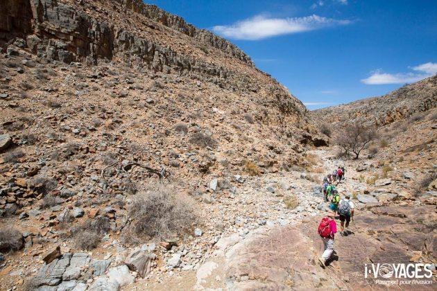 Randonnée sur le Waterkloof trail, parc national Naukluft, Namibie.