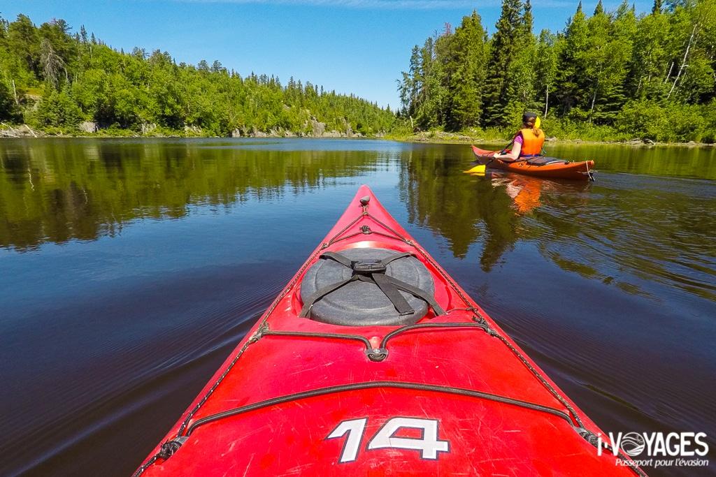 Kayak sur le lac Loïs