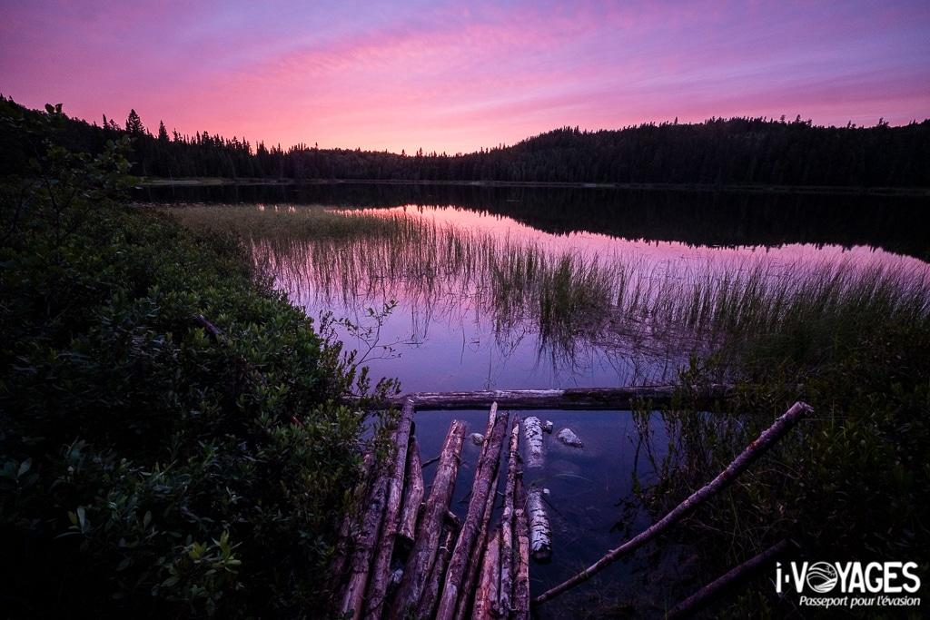 Coucher de soleil sur le lac Sablon