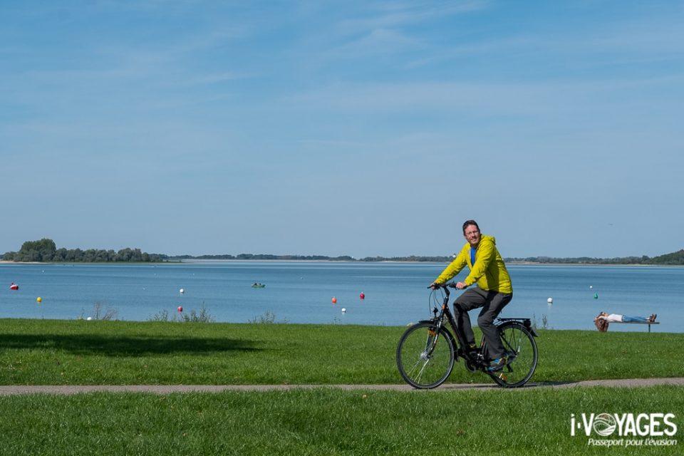 Vélo autour du lac du Der