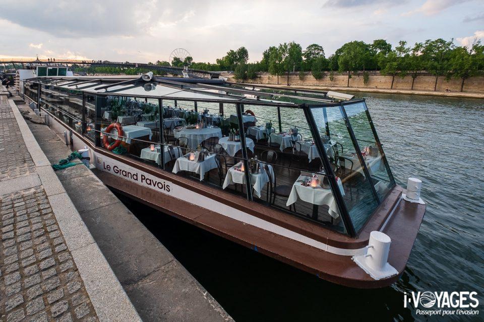 dîner croisière sur la Seine, le Grand Pavois