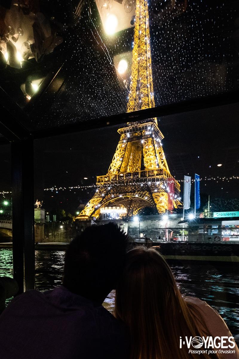 dîner croisière sur la Seine, la tour eiffel