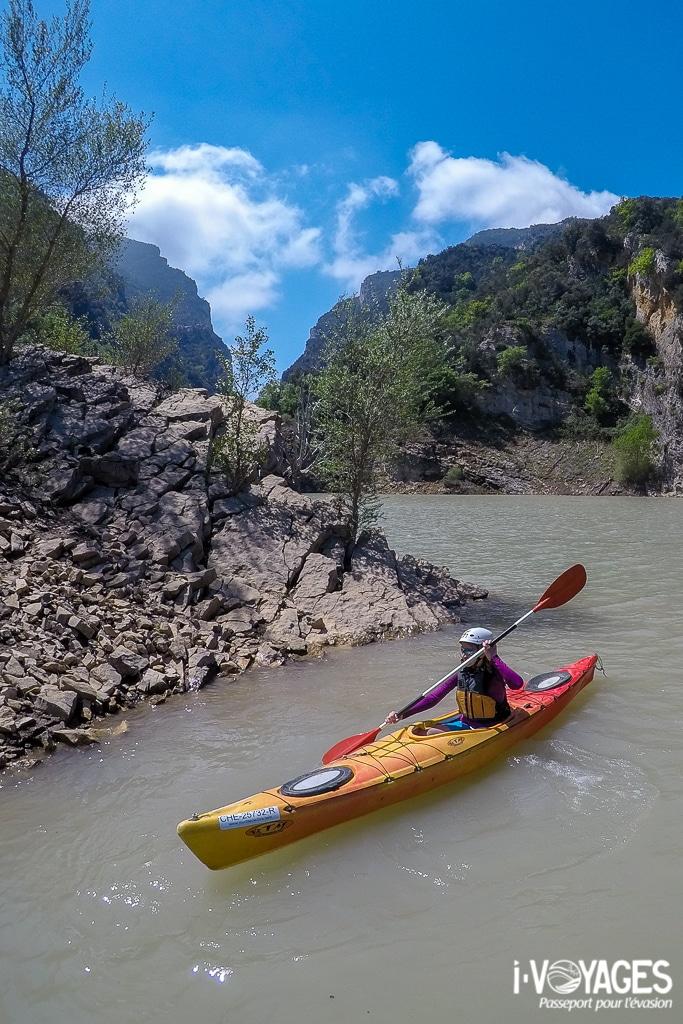 Kayak à Congost de Mont-Rebei