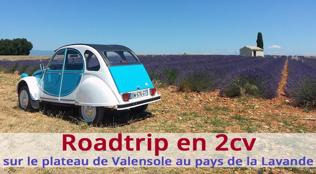 Roadtrip en 2cv sur le plateau de Valensole au pays de la Lavande