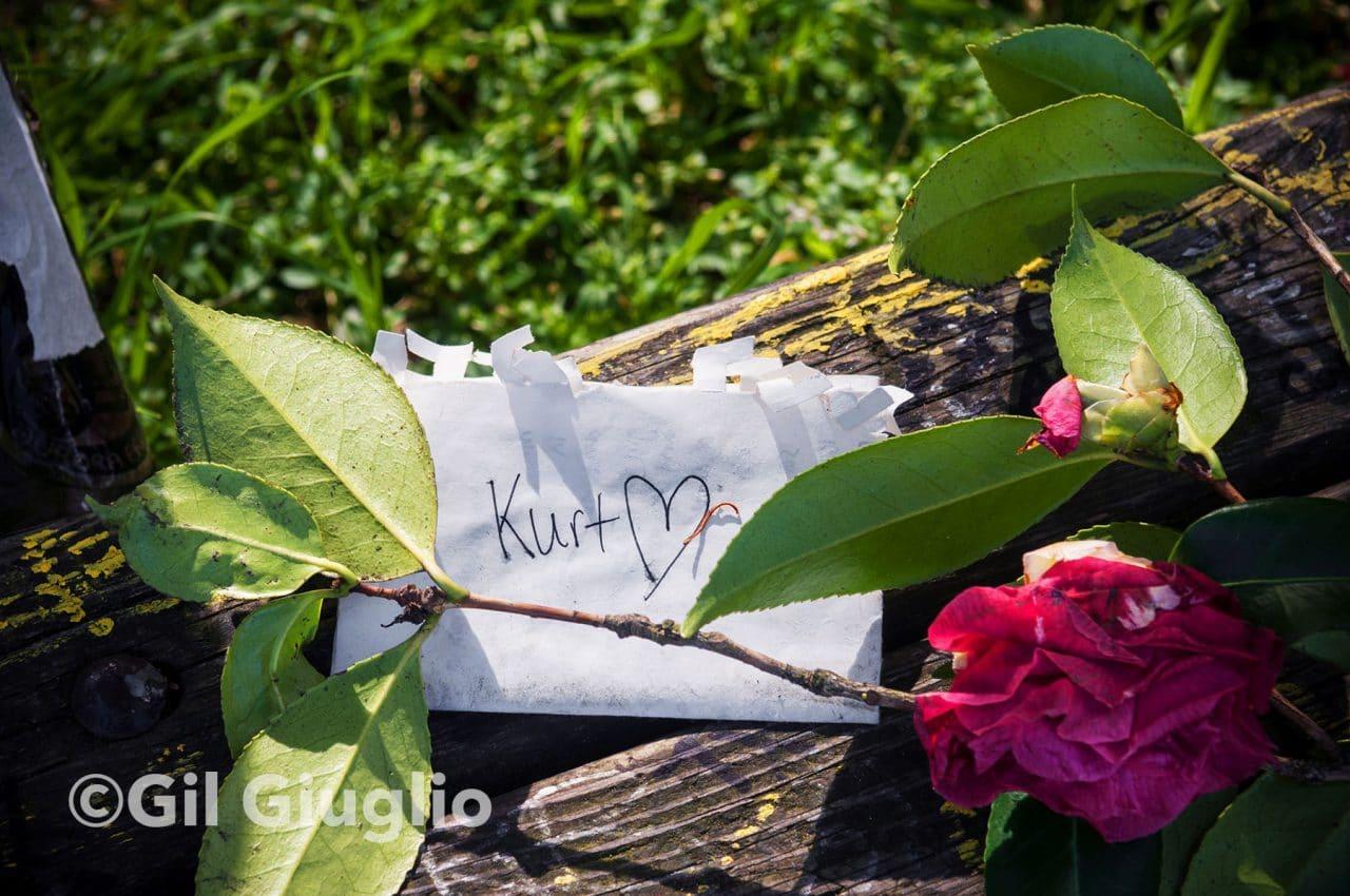 Seattle, banc dans le parc Viretta à côté de la maison de Kurt Cobain sur Lake Washington Boulevard