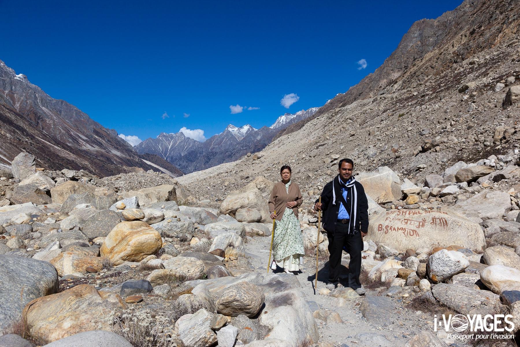 Des yatris en pèlerinage aux sources du Gange