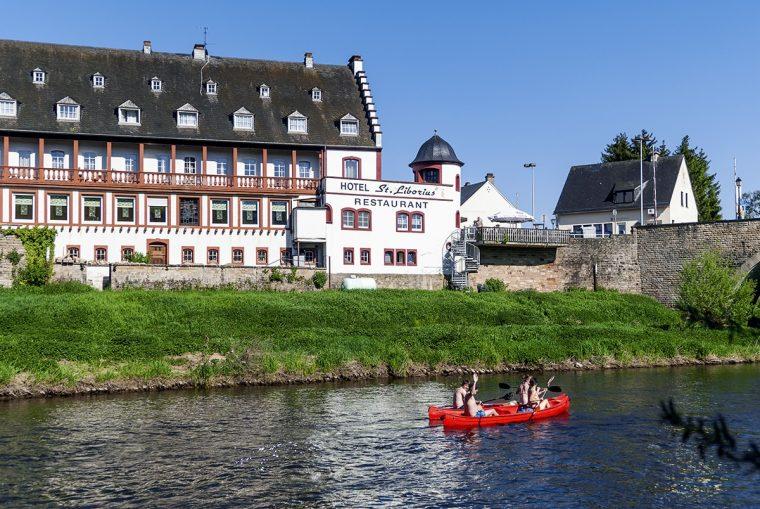 Country break au Luxembourg, canoé sur la rivière Sure.