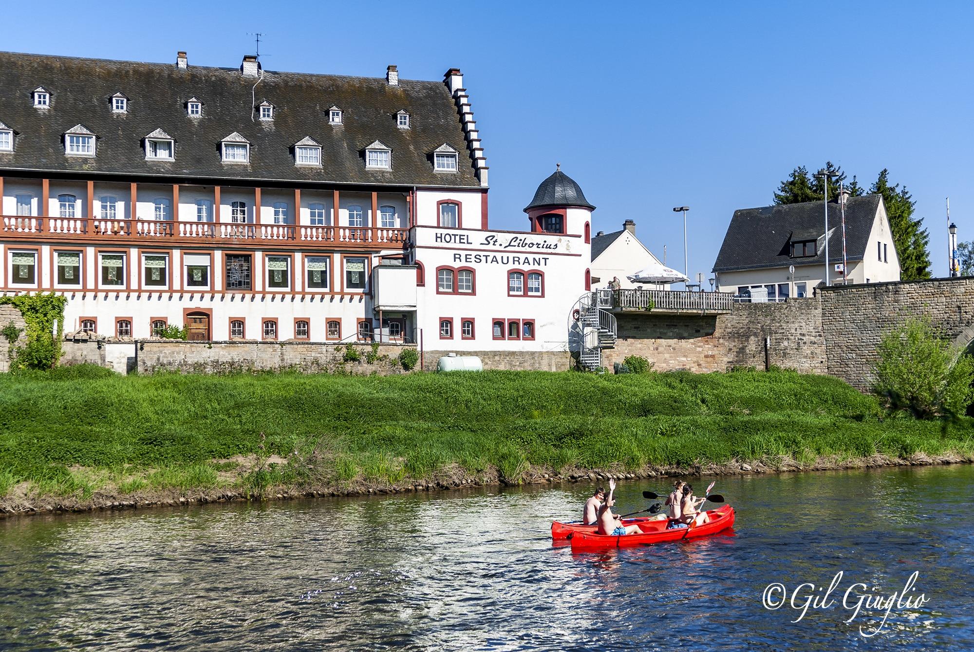 Luxembourg, Canoé sur rivière Sure à Mullerthal. Photo : Gil Giuglio