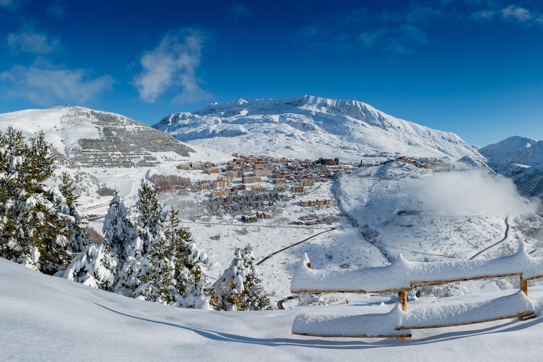 Alpe d'Huez, 5stations de sports d'hiver françaises pour faire du grand ski