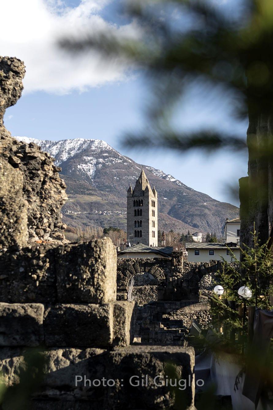 Aqueduc et autres vestiges de l'Histoire au coeur d'Aoste