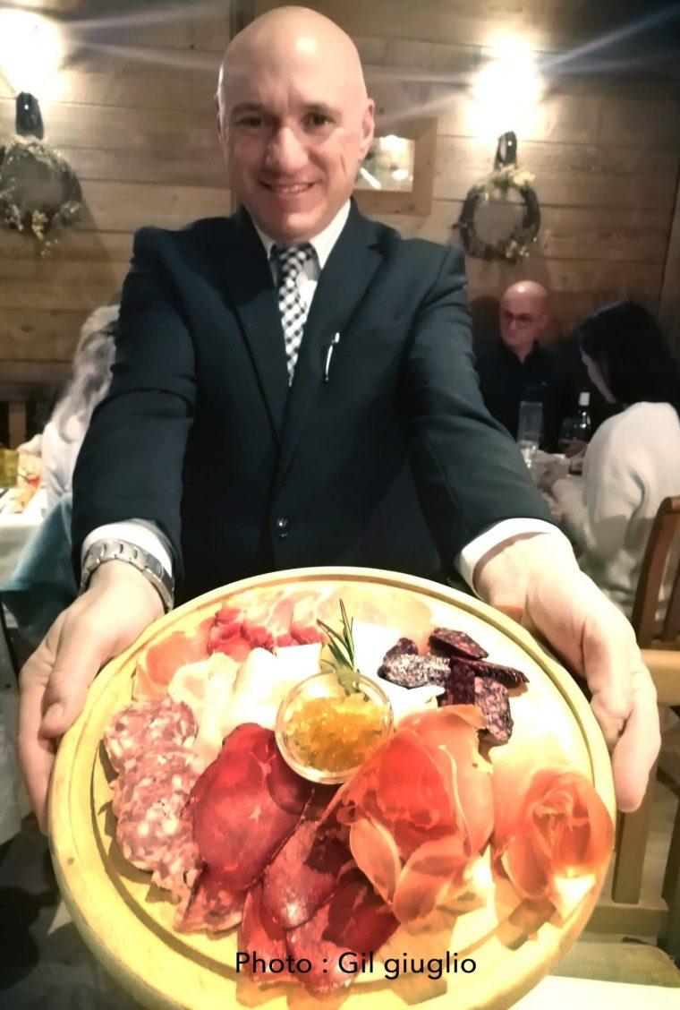 La Thuile. Jambon de Bosses à l'hôtel Miramonti, Vallée d'Aoste, l'hiver en Douceur