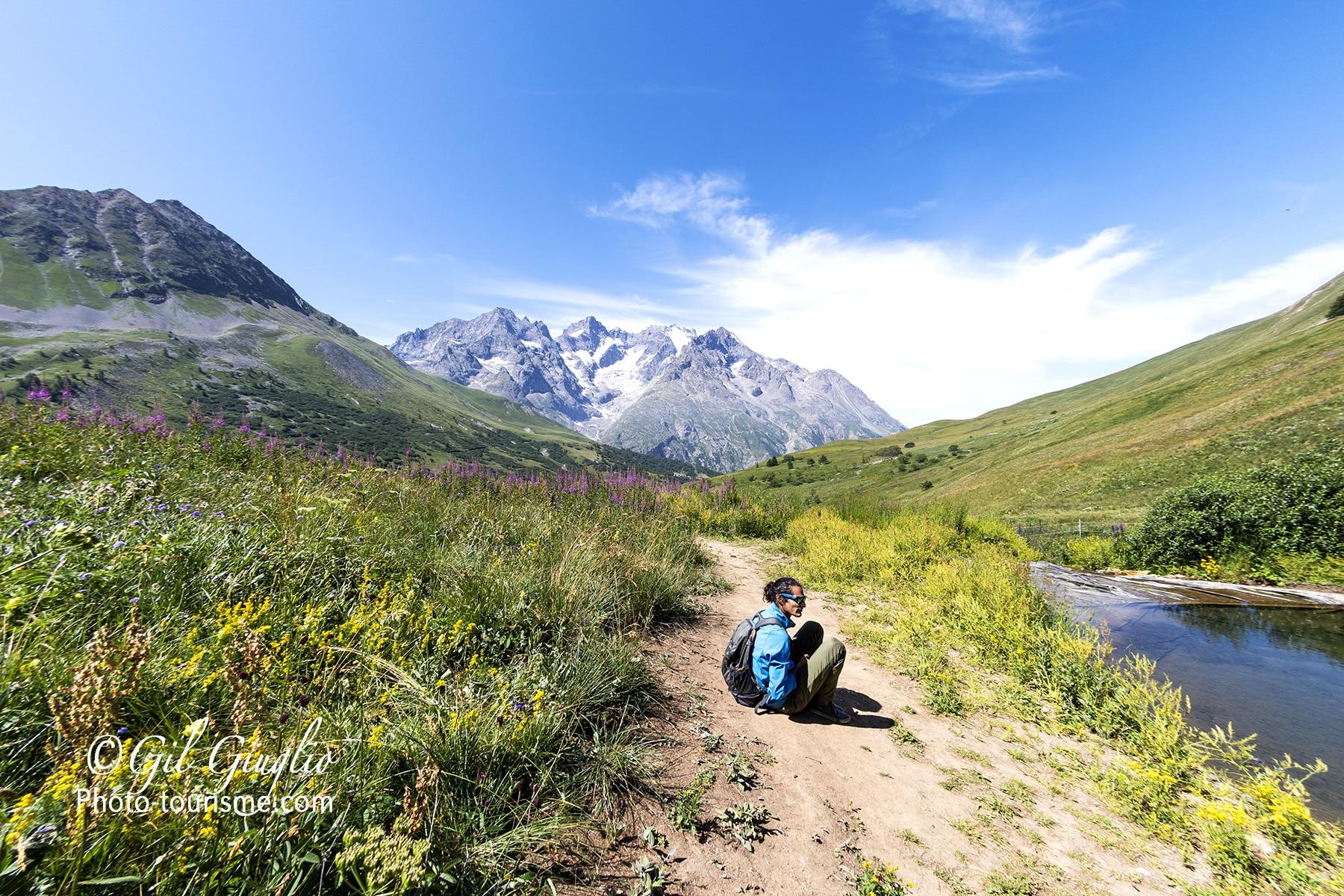 Détente dans le Jardin Alpin du Lautarer
