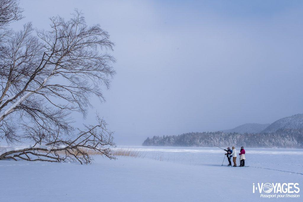 Ski Raquettes au lac Akan