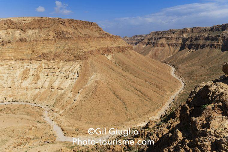 Vue sur le canyon de la Réserve Ein Gedu