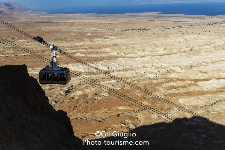 Cable Car depuis la citadelle jusqu'au Musée de Massada