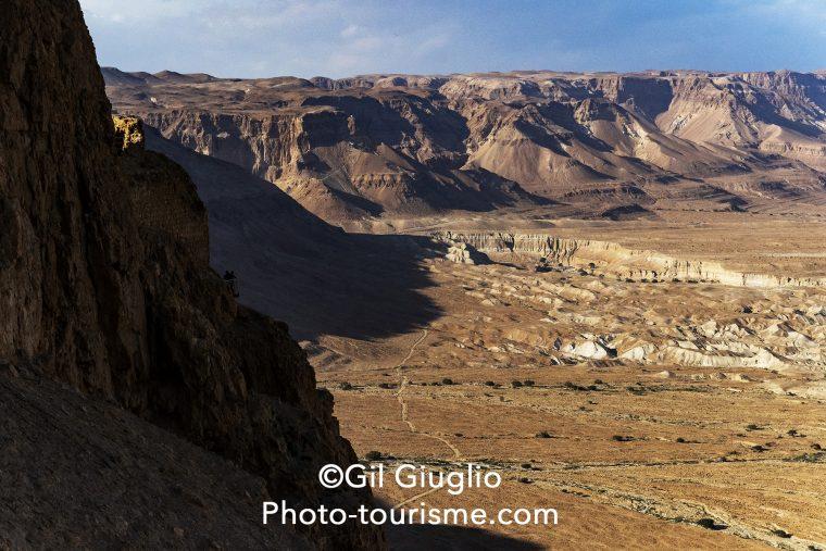 Vue sur le désert du Néguev depuis citadelle de Massada
