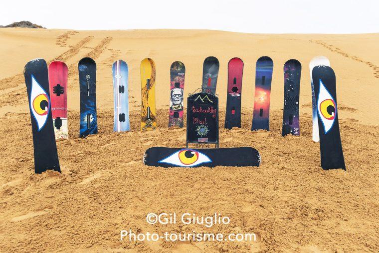 Sand boarding sur dune du désert du Néguev