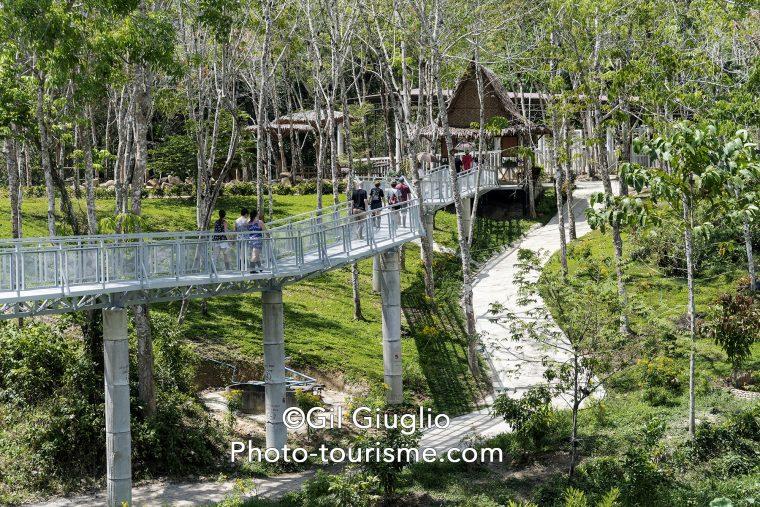 Passerelle sur parc sur Phuket Elephant Sanctuary