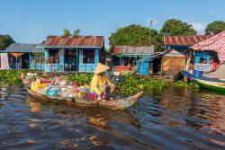 Cambodge : dans un village flottant du lac Tonlé Sap