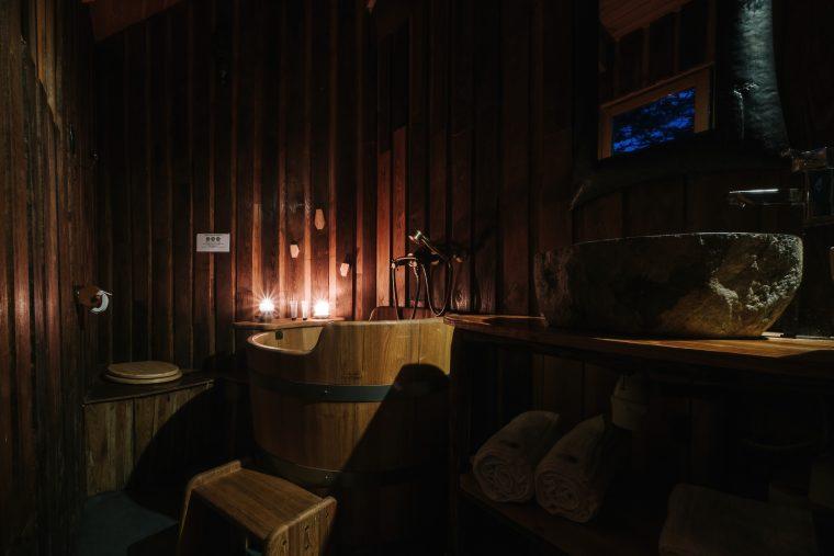 Salle de bain de la Cabane dans les arbres