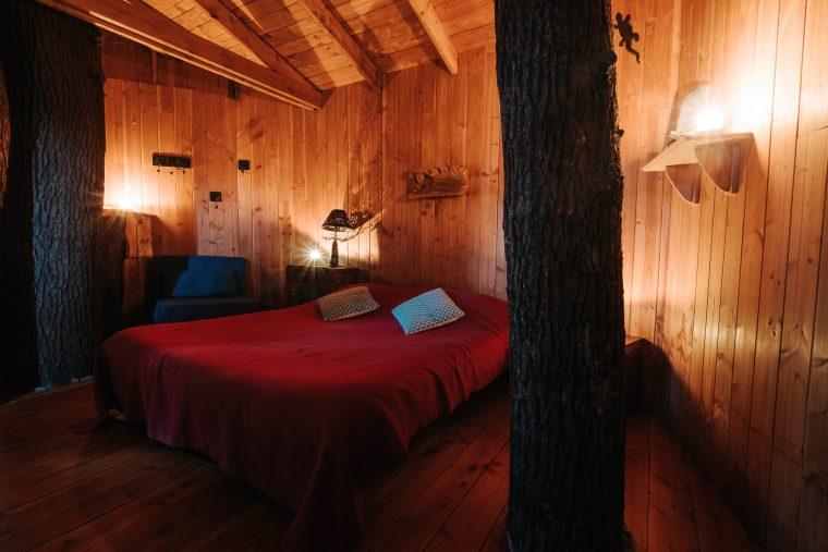 Intérieur de la Cabane dans les arbres