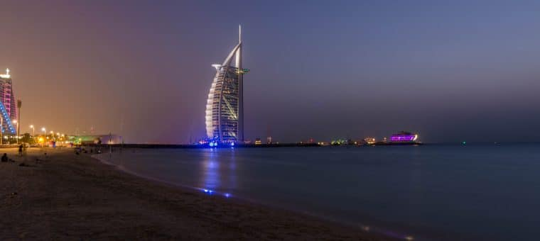 Plage de sunset beach burj al arab