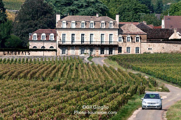Les vignobles autour du Clos Vougeot