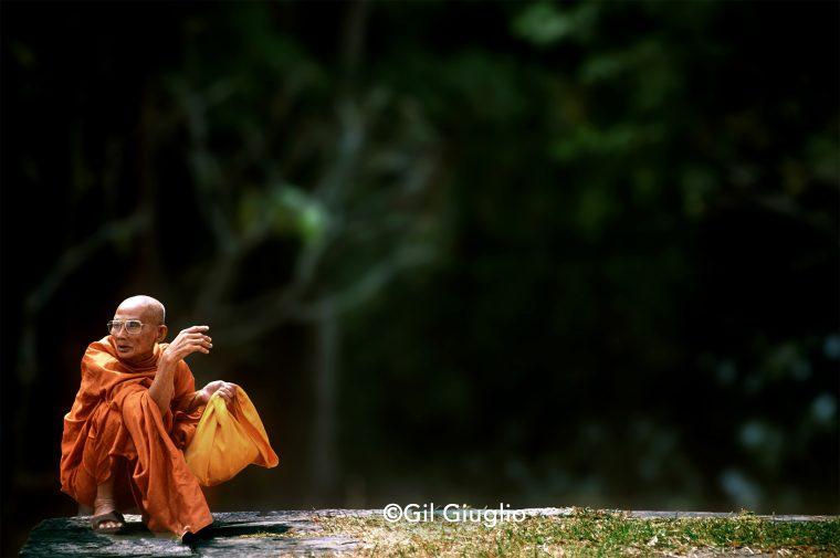 Moine bouddhiste à Phanong Rung