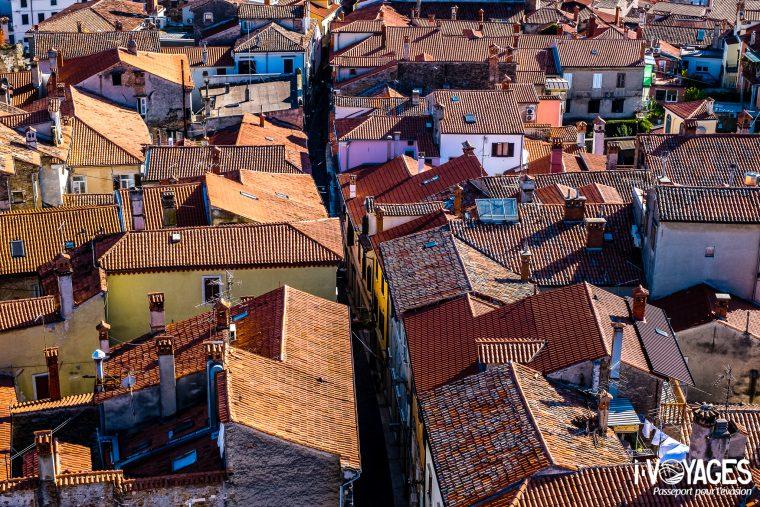 Les toits de Koper depuis le Campanile