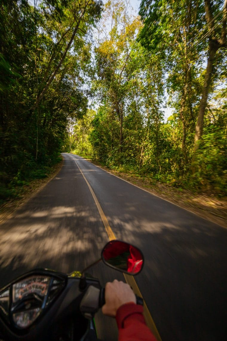 Le parc national khao yai en scooter