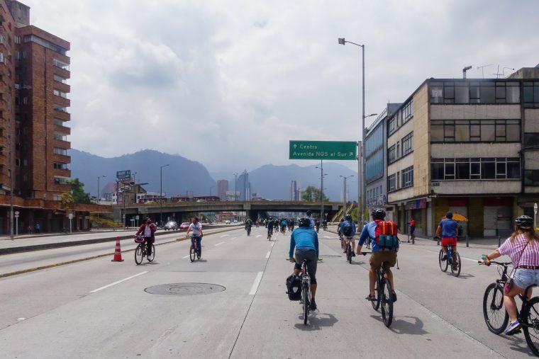 ciclovia à Bogota