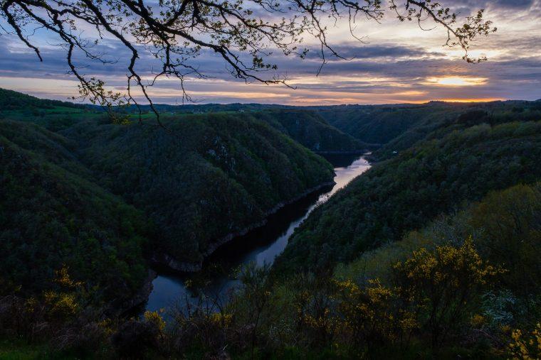 Coucher de soleil sur la Dordogne