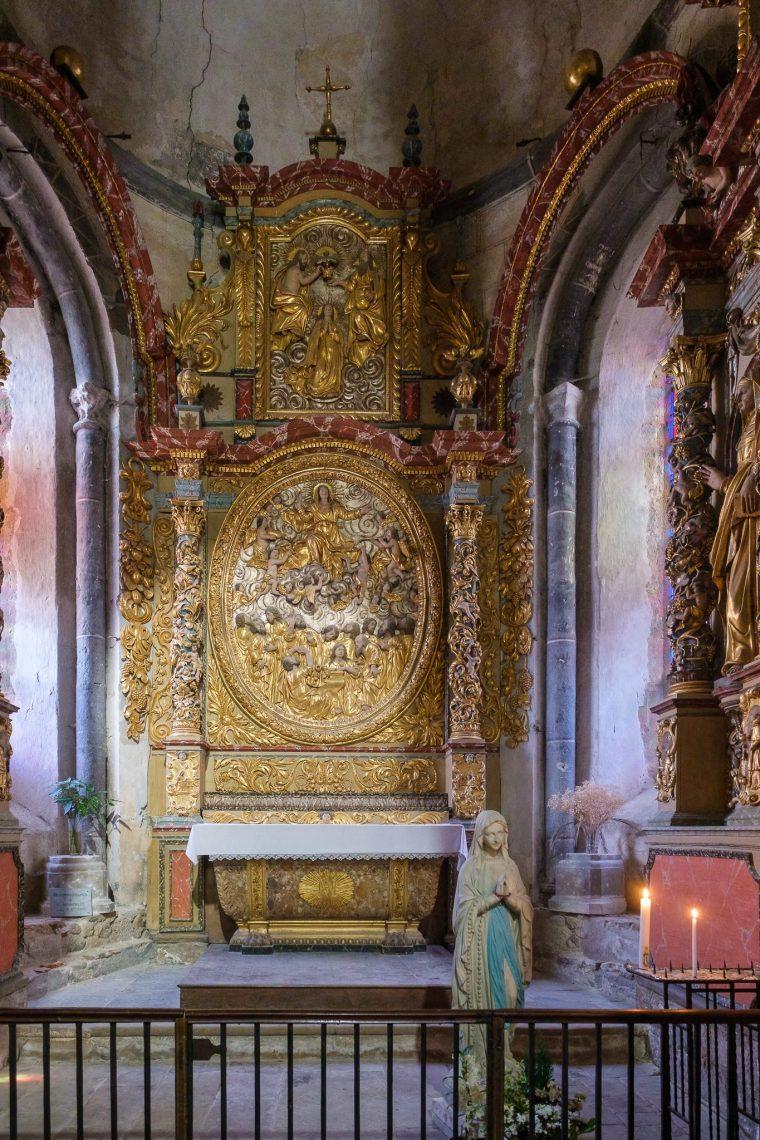 Retable de la chapelle de la Vierge, Abbaye Saint-Pierre