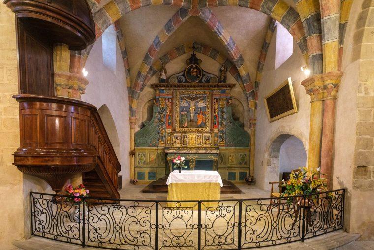 Retable de l'Eglise Saint-Barthélémy à Curemonte