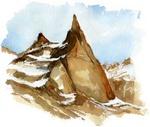 La Dibona dans le parc national des Ecrins