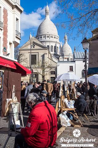 Montmartre à deux pas de l'auberge Y. Robert