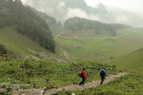 Un sentier géologique, qui explique avec force dessins comment les montagnes sont devenues des montagnes, part du Hoher Kasten et suit la ligne de crête. La balade n'est pas de tout repos.