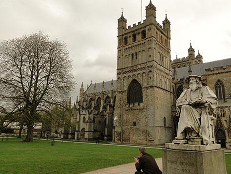 La cathédrale d'Exeter date du XIIe siècle.