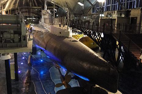 L'ancien port des hydravions est devenu un surprenant musée maritime.