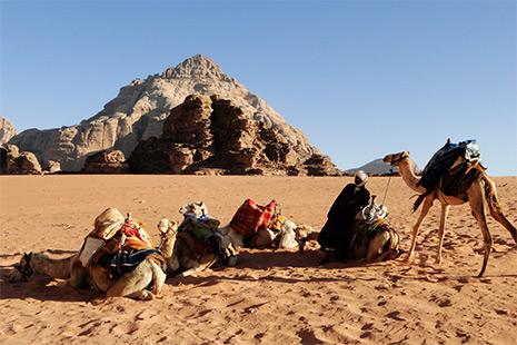 Le désert du Wadi Rum, dans les pas de Lawrence d'Arabie