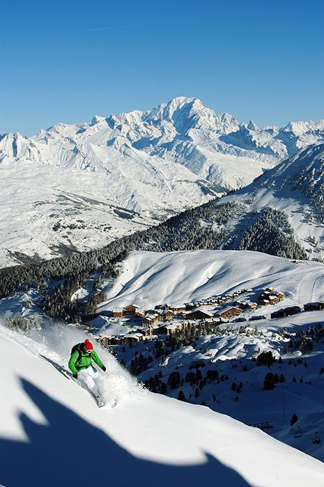 La Plagne, composée de dix villages, est le deuxième domaine de ski eu Europe. (Photo P. Royer)
