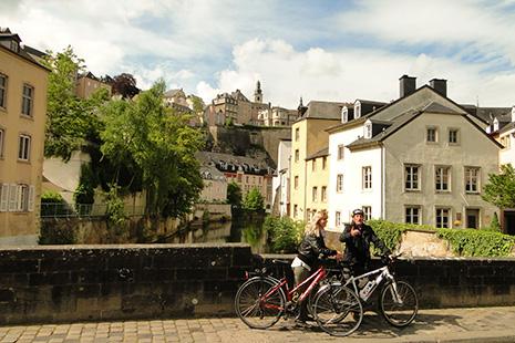 La ville basse de Luxembourg, le cœur historique, dont la plus grande partie est inscrite au patrimoine mondial de l'Unesco.