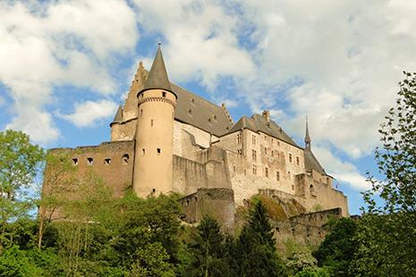 Le château de Vianden, magnifique citadelle médiévale.