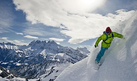 Les magnifiques Dents du Midi, que l'on admire depuis le versant suisse.