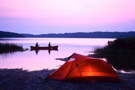 Camping sauvage - Source de l'image: bonjourquebec.com