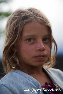 Jeune fille du village de Cha das Caldeiras