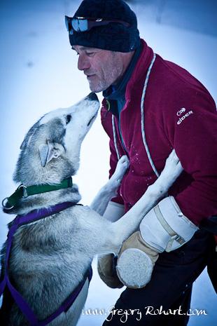 Frédéric Gendreau, Musher et un de ses chiens