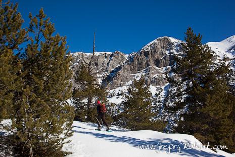 Raquette à neige- vallée de la Clarée