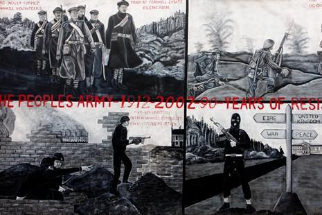 Les murals de belfast et derry for Mural irlande