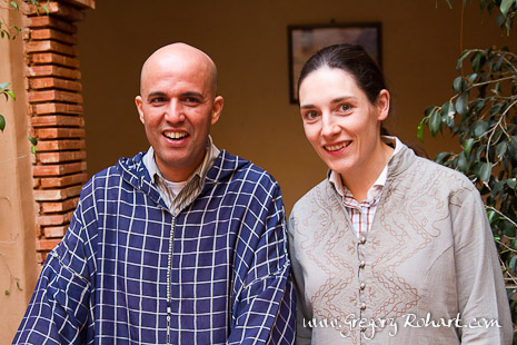 Hélène TASSIN-PERRIER et Hassan ABOUTAYEB, propriétaire de l'Atlas Kasbah Ecolodge
